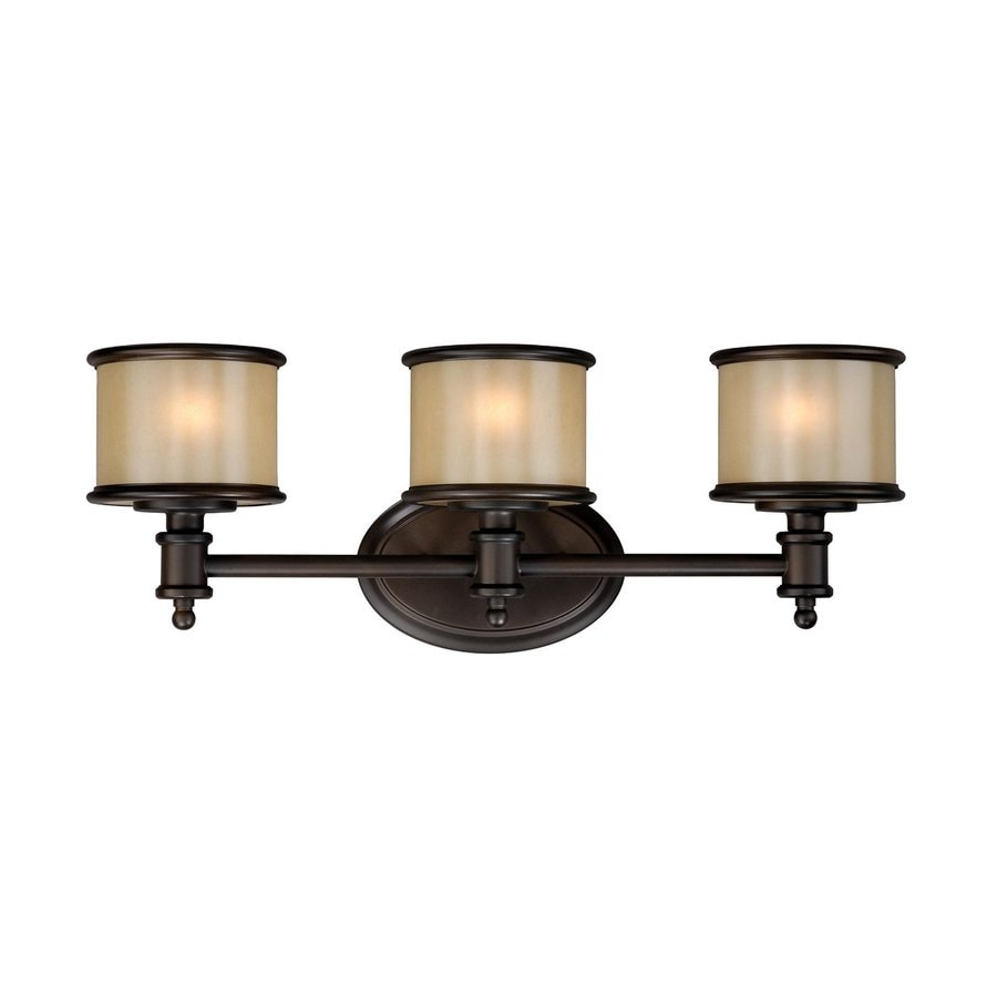Cascadia Lighting Carlisle 3-Light 8-in Noble Bronze Drum Vanity Light