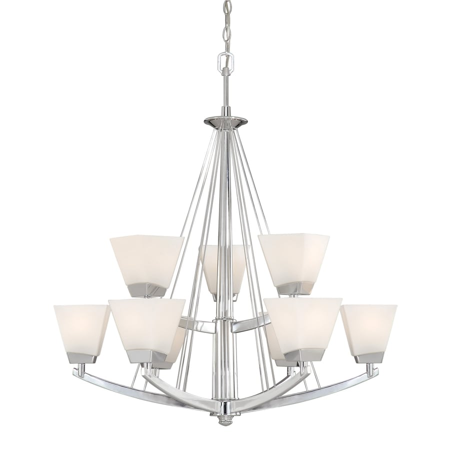 Cascadia Lighting Kendall 32.5-in 9-Light Chrome Tiered Chandelier