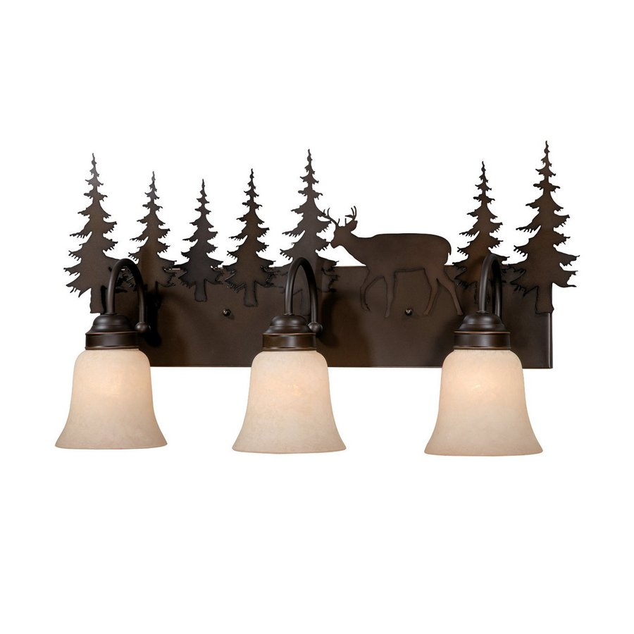 Cascadia Lighting Bryce 3-Light 13.75-in Burnished bronze Bell Vanity Light