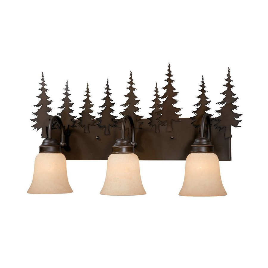 Cascadia Lighting Yosemite 3-Light 13.75-in Burnished bronze Bell Vanity Light