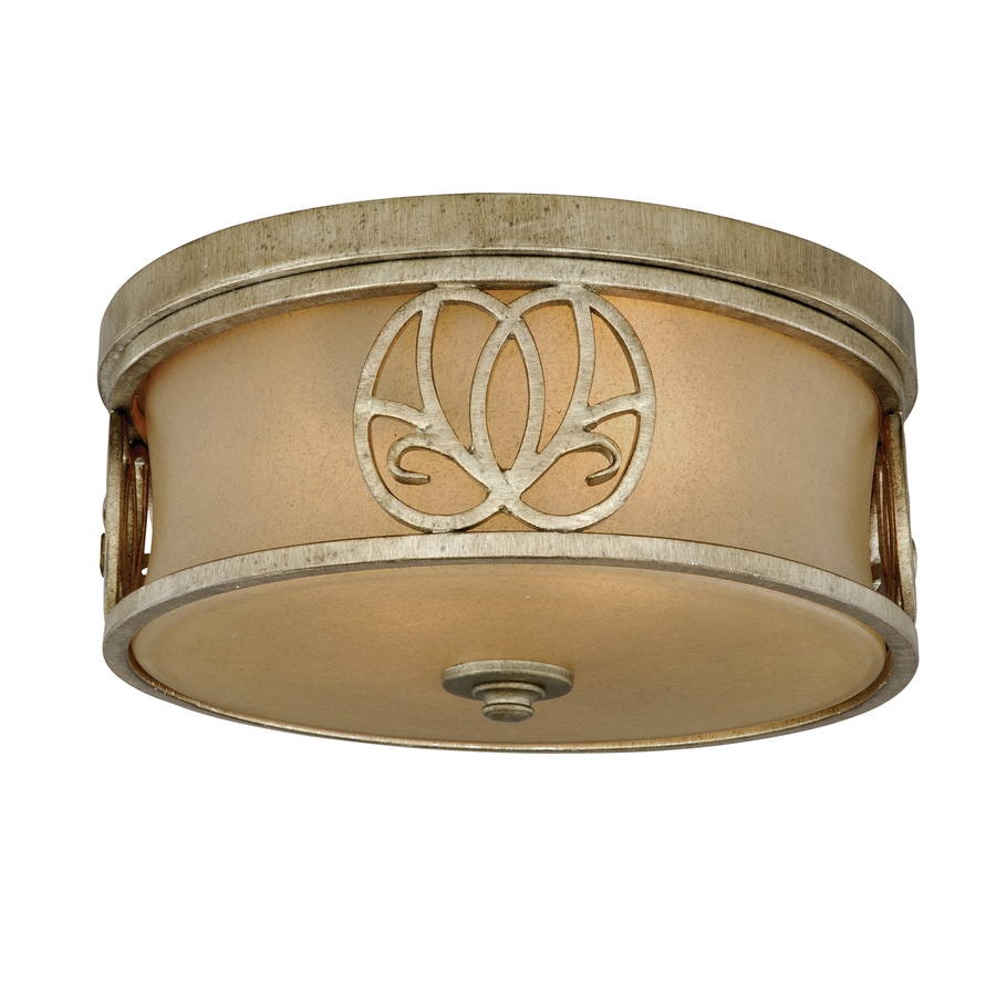 Cascadia Lighting Newbury 13-in W Venetian Brass Ceiling Flush Mount Light