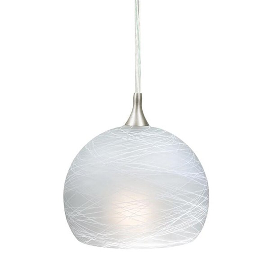 Cascadia Lighting Milano 5.75-in Satin Nickel Mini Art Glass Dome Pendant