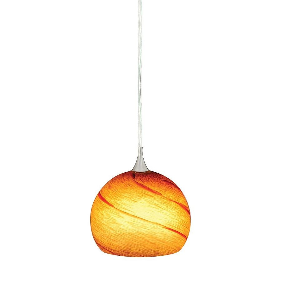 Cascadia Lighting Milano 5.75-in Satin Nickel Mini Art Glass Dome Pendant