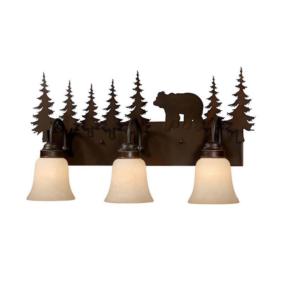 Cascadia Lighting Bozeman 3-Light 13.75-in Burnished bronze Bell Vanity Light