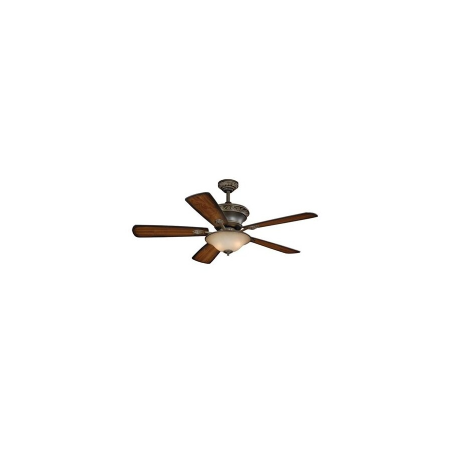 Cascadia Lighting 52-in Riviera Oil-Rubbed Bronze Ceiling Fan with Light Kit