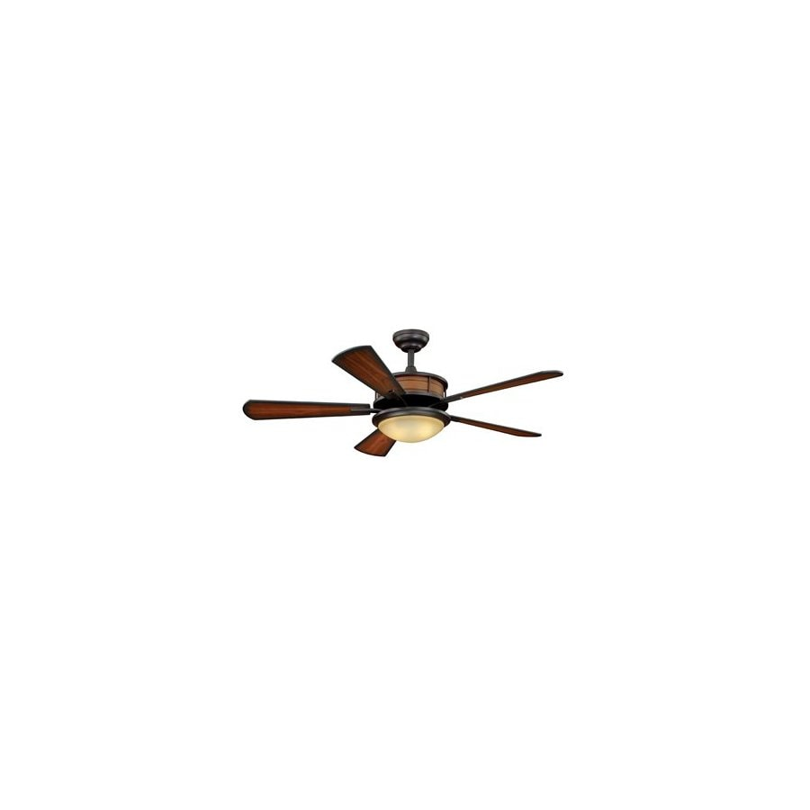Cascadia Lighting 52-in Maritime Oil-Rubbed Bronze Outdoor Ceiling Fan with Light Kit