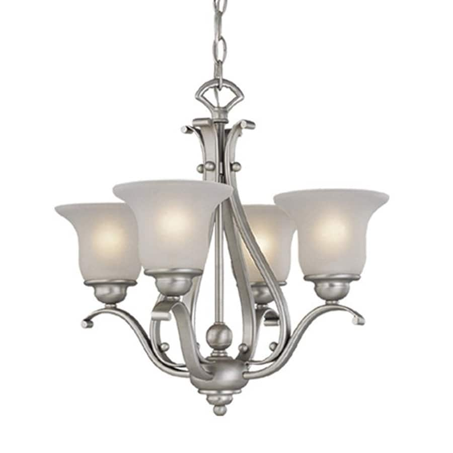 Cascadia Lighting Monrovia 18.5-in 4-Light Brushed Nickel Shaded Chandelier