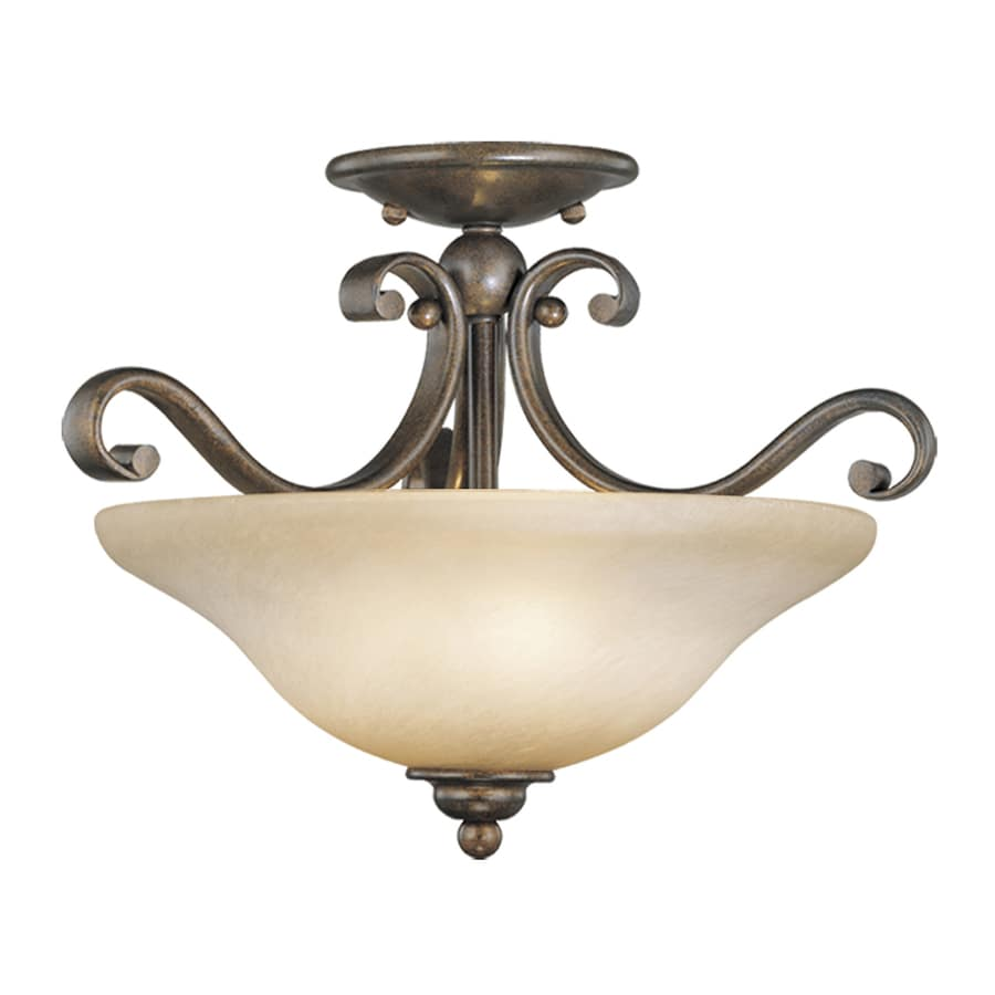 Cascadia Lighting Monrovia 17-in W Royal Bronze Semi-Flush Mount Light