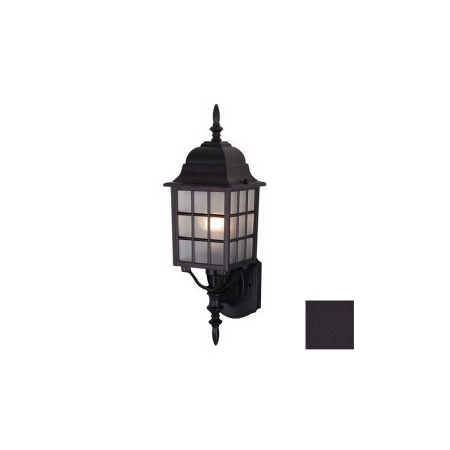 Cascadia Lighting Vista 19-in Textured Black Outdoor Wall Light