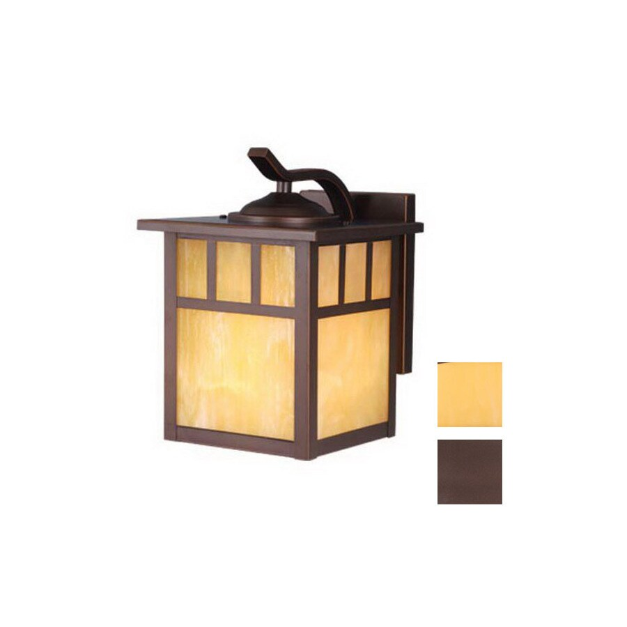 Cascadia Lighting Mission 10-1/2-in Burnished Bronze Outdoor Wall Light