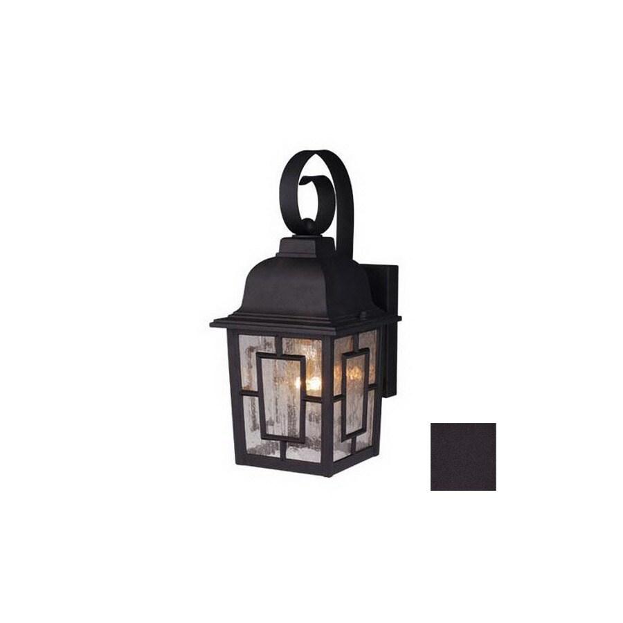 Cascadia Lighting Vista 13-in Textured Black Outdoor Wall Light