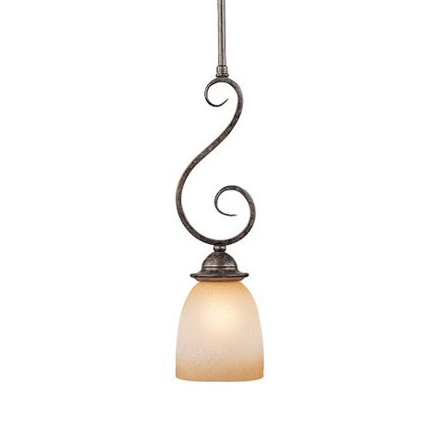 Cascadia Lighting Mont Blanc 5-in Aztec Bronze Vintage Mini Bell Pendant