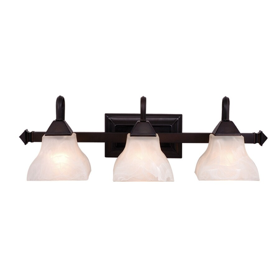 Cascadia Lighting Cardiff 3-Light 8-in Oiled burnished bronze Bell Vanity Light