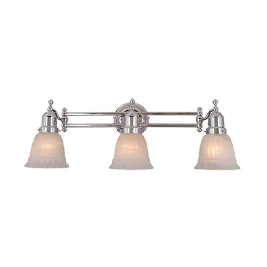 Cascadia Lighting 3-Light 8.5-in Chrome Bell Vanity Light