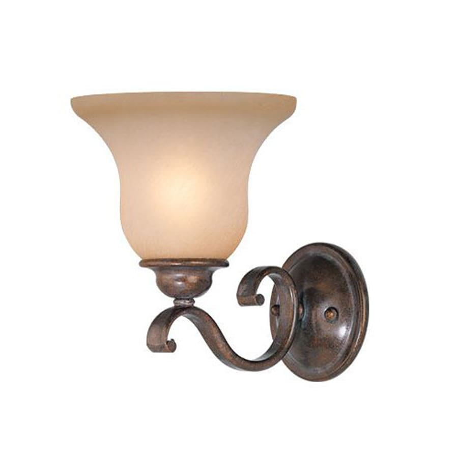 Cascadia Lighting Monrovia 7-in W 1-Light Royal Bronze Arm Hardwired Wall Sconce