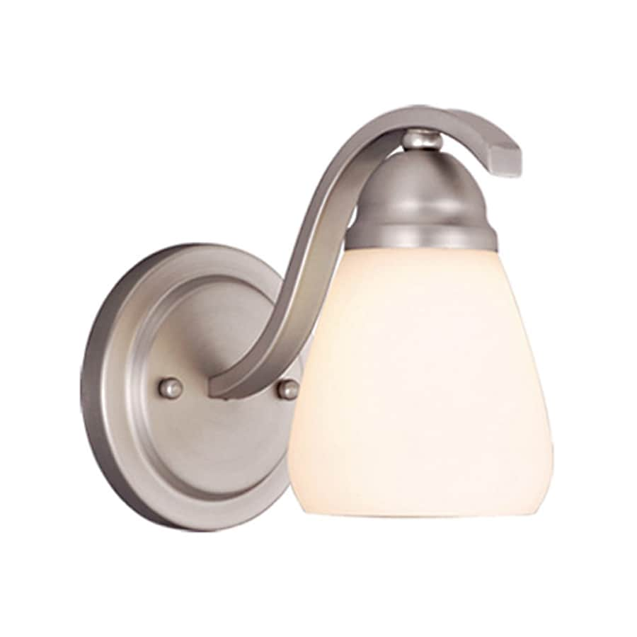 Cascadia Lighting Inns Brook 1-Light 7.5-in Brushed Nickel Bell Vanity Light