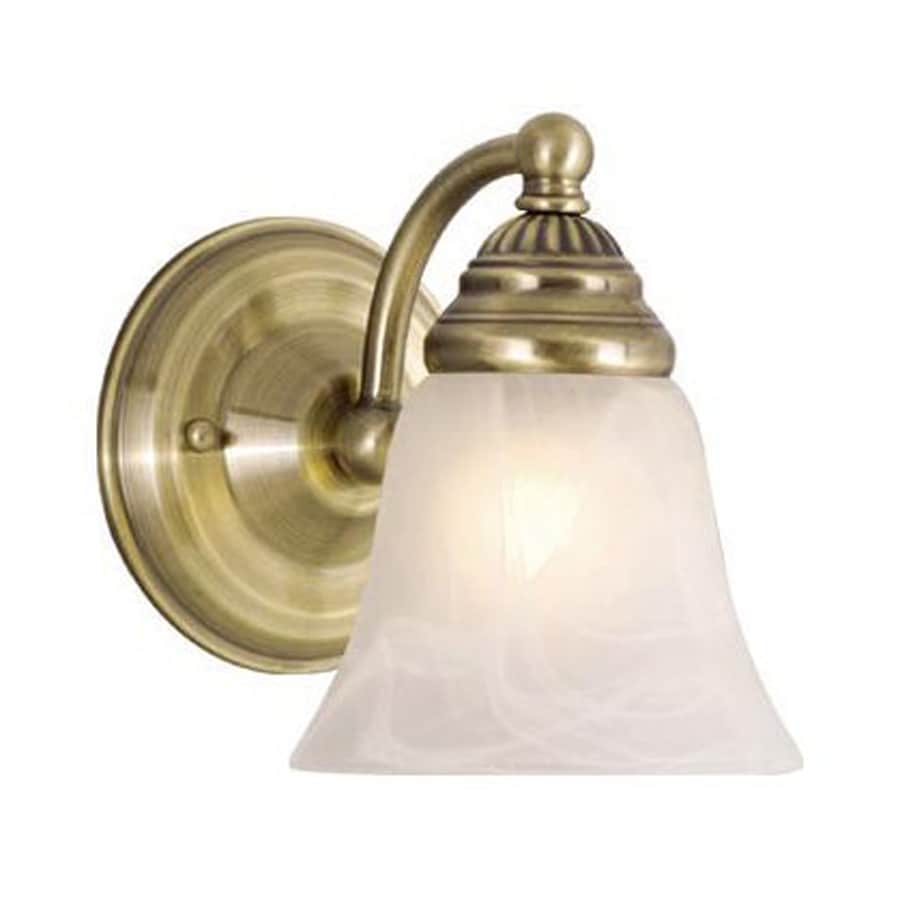 Cascadia Lighting Standford 5.25-in W 1-Light Antique Brass Arm Wall Sconce