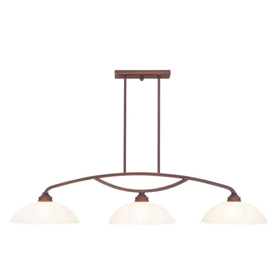 Livex Lighting Somerset 13-in W 3-Light Vintage Bronze Kitchen Island Light with Shade