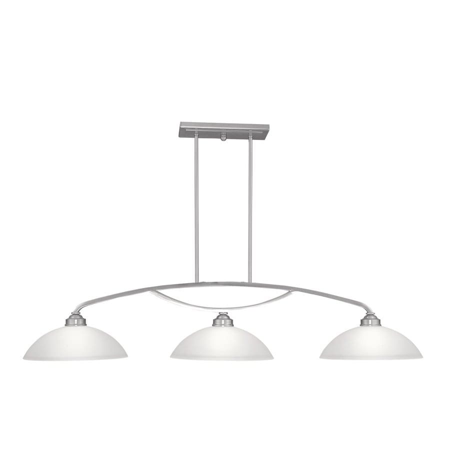 Livex Lighting Somerset 50-in W 3-Light Brushed Nickel