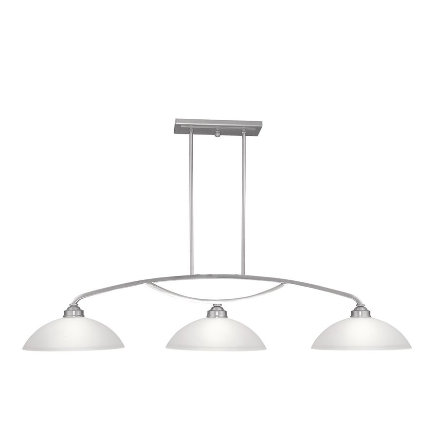 Livex Lighting Somerset 13-in W 3-Light Brushed Nickel Kitchen Island Light with Shade