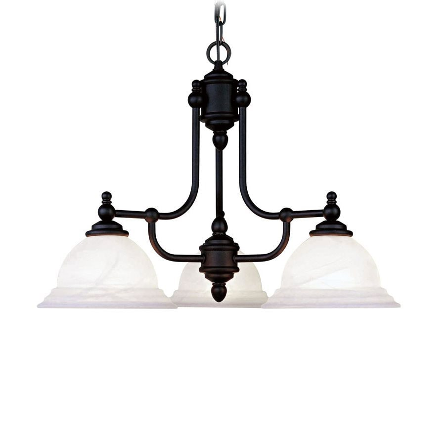 Shop livex lighting northport 24 in 3 light black alabaster glass livex lighting northport 24 in 3 light black alabaster glass shaded chandelier aloadofball Images