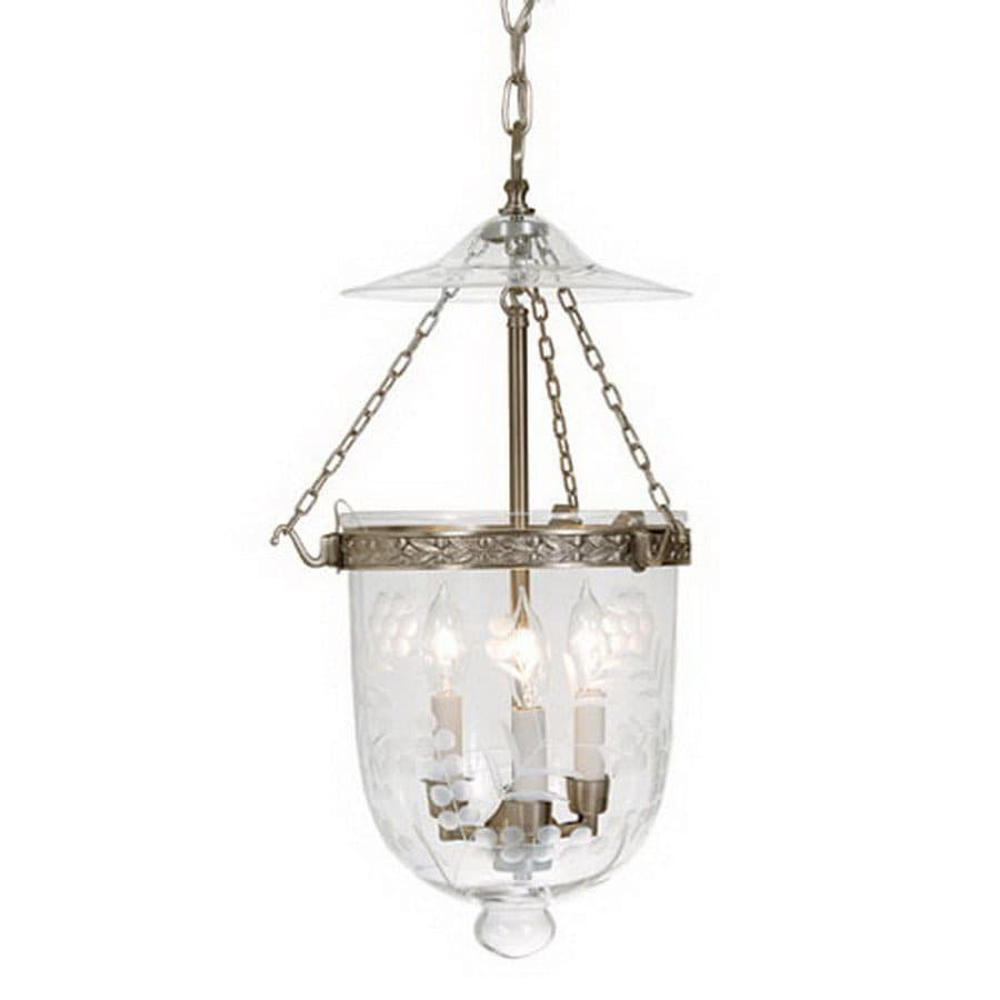 Jvi Designs Bell Jar 11 In W Pewter Mini Pendant Light With Shade