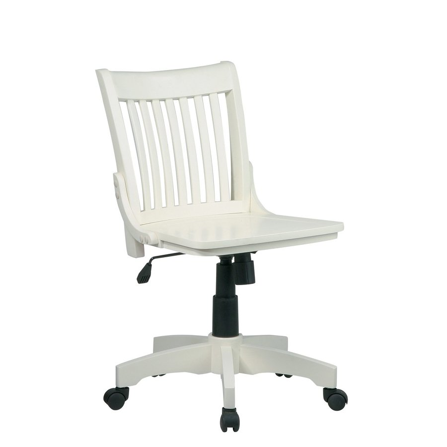 Office Star OSP Designs Antique White Transitional Bankers Chair