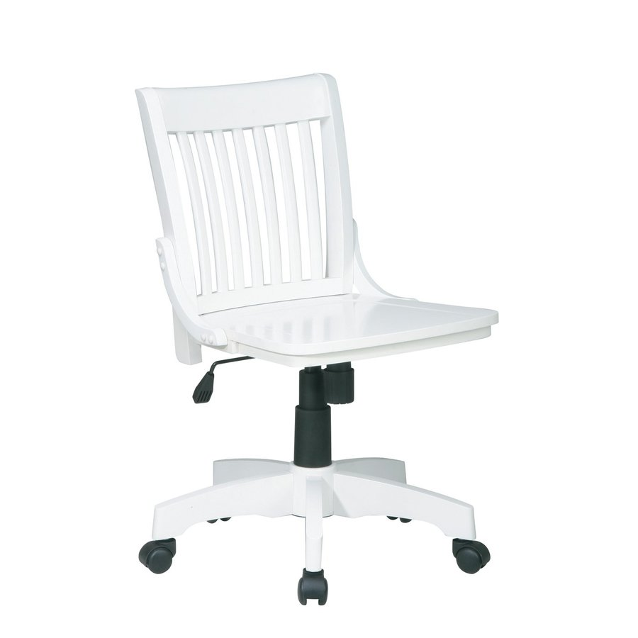 Office Star OSP Designs White Transitional Bankers Chair