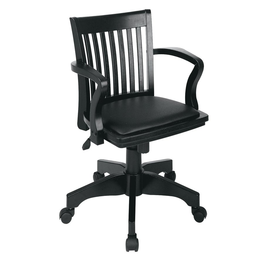 Office Star One OSP Designs Black Vinyl Task Office Chair