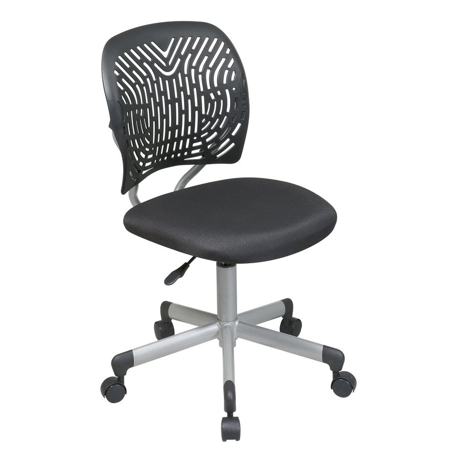 shop office star osp designs black silver mesh task office chair at