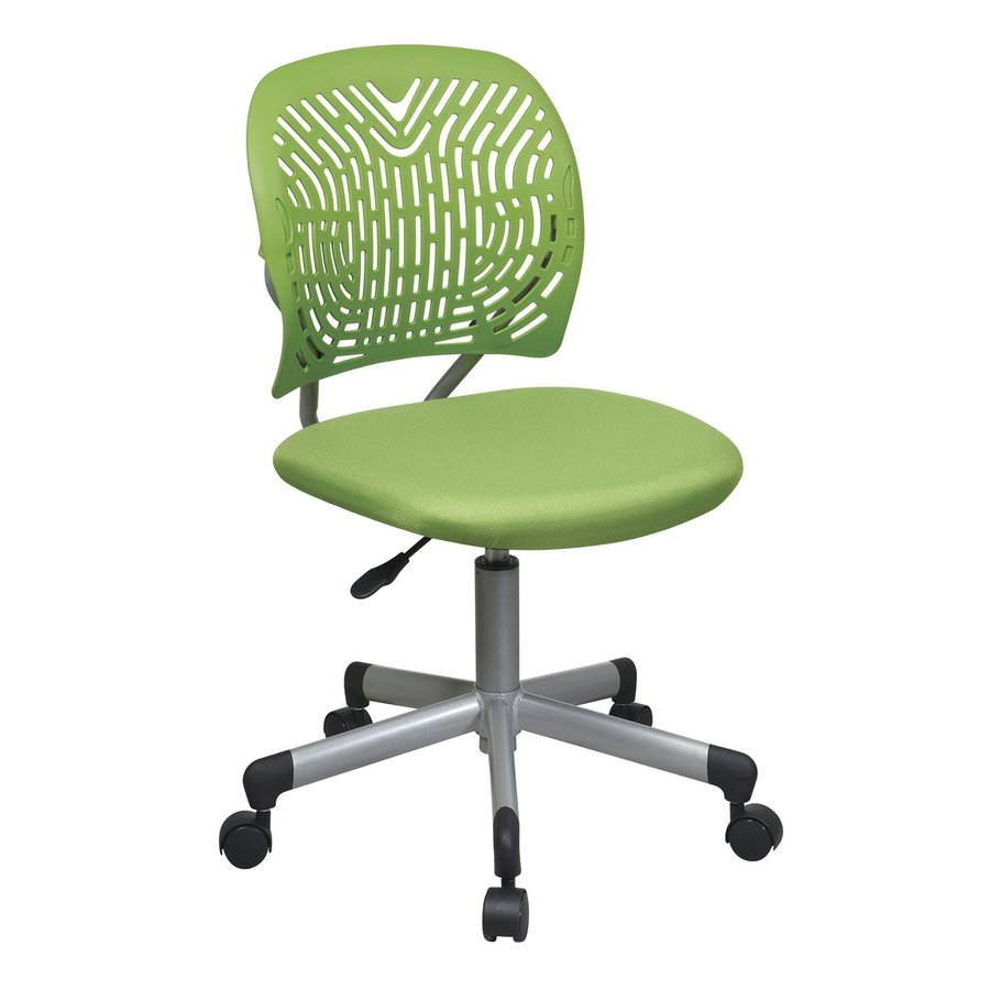 Office Star OSP Designs Green/Silver Contemporary Task Chair