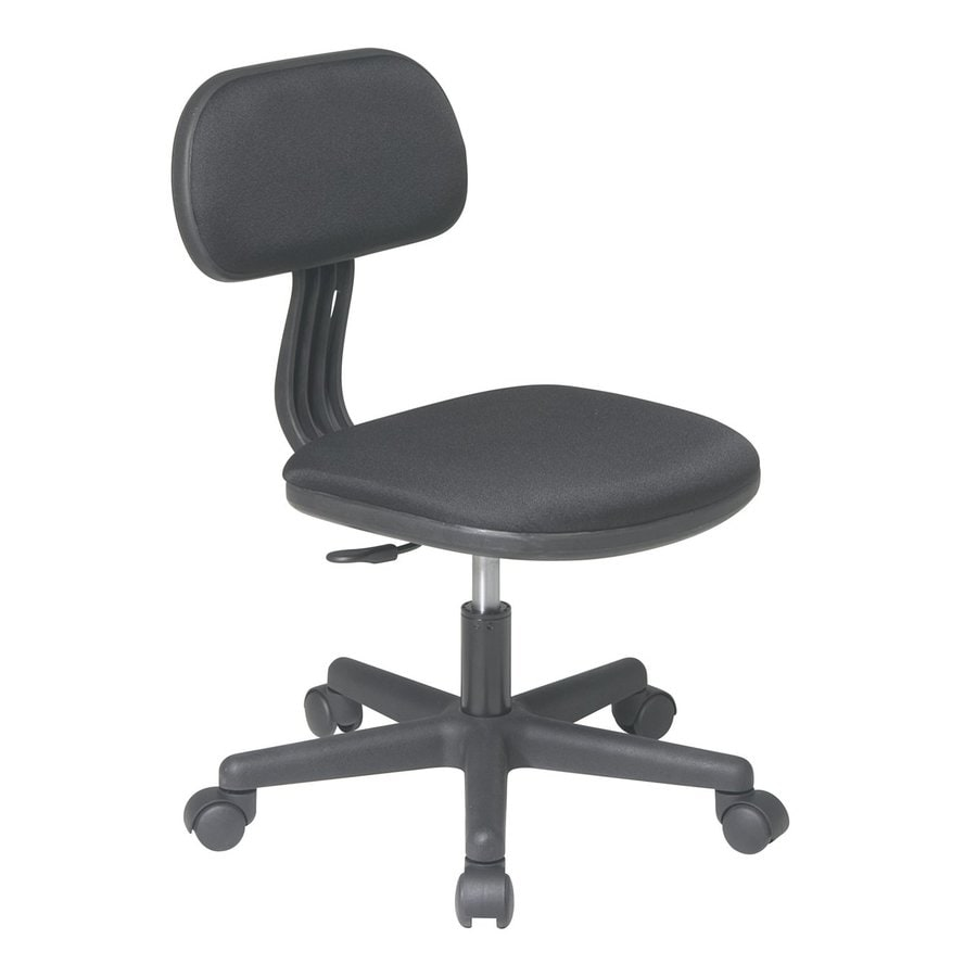 Office Star OSP Designs Black Contemporary Task Chair