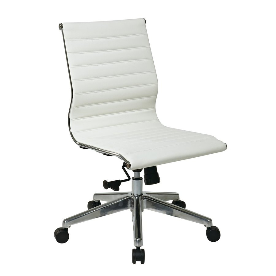 shop office star osp furniture white bonded leather office chair at
