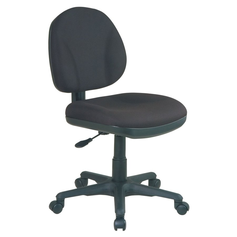 Shop Office Star WorkSmart Black Traditional Task Chair At
