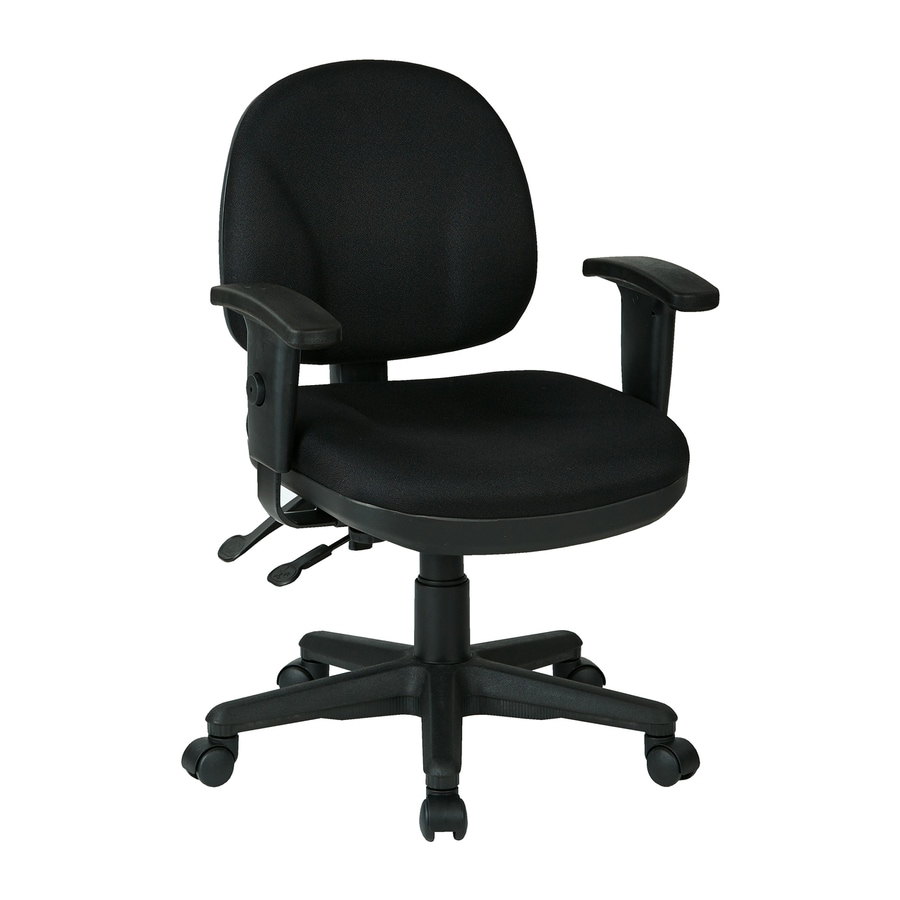 Office Star WorkSmart Icon Black Transitional Task Chair