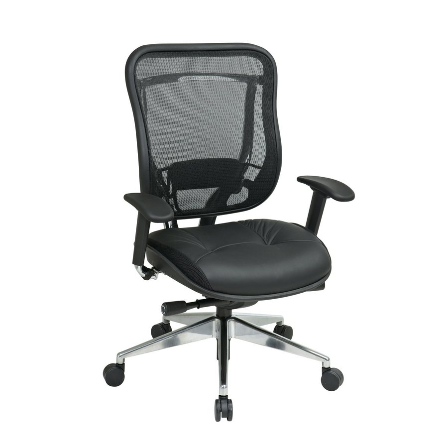 Office Star One Space Black Leather Executive Office Chair