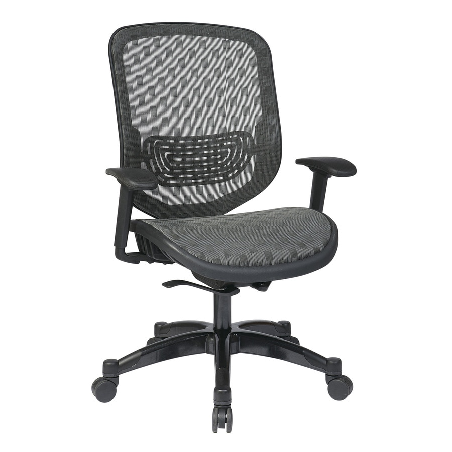 Office Star One Space Charcoal Mesh Executive Office Chair