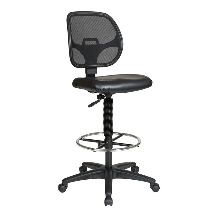 Office Star WorkSmart DC Black Contemporary Drafting Chair