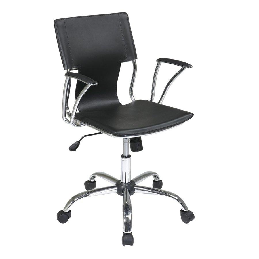 Office Star Dorado Black/Chrome Contemporary Task Chair