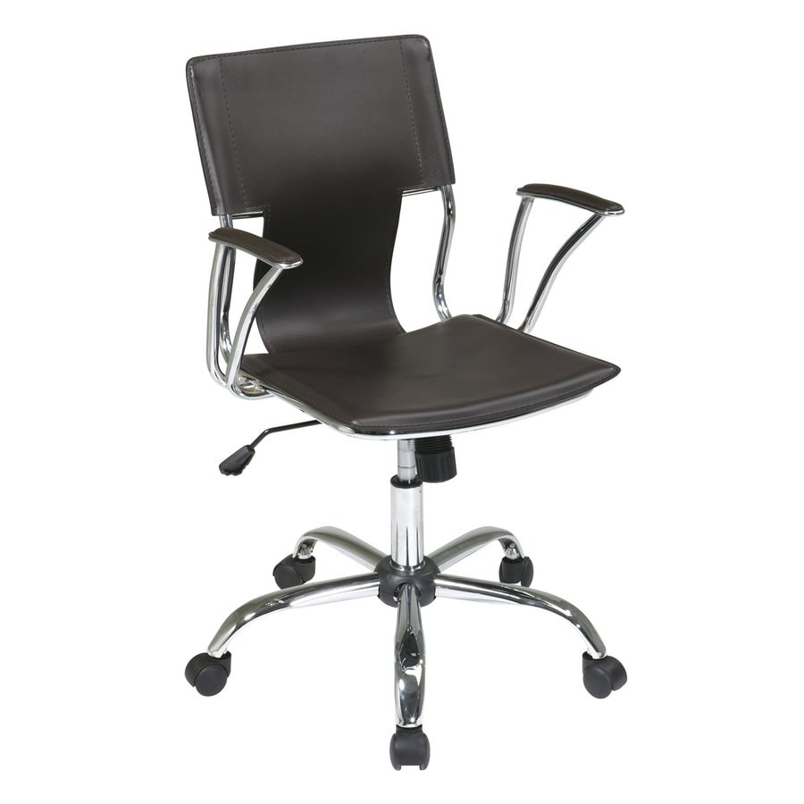 Office Star Dorado Espresso/Chrome Contemporary Task Chair