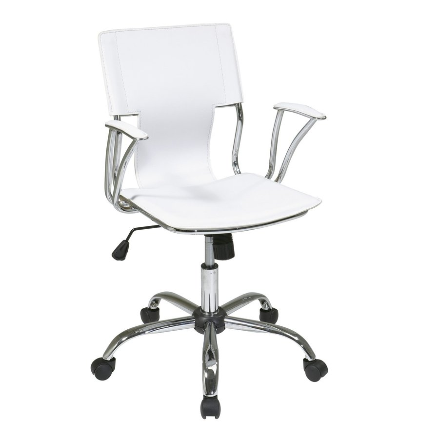 Office Star Dorado White/Chrome Contemporary Task Chair
