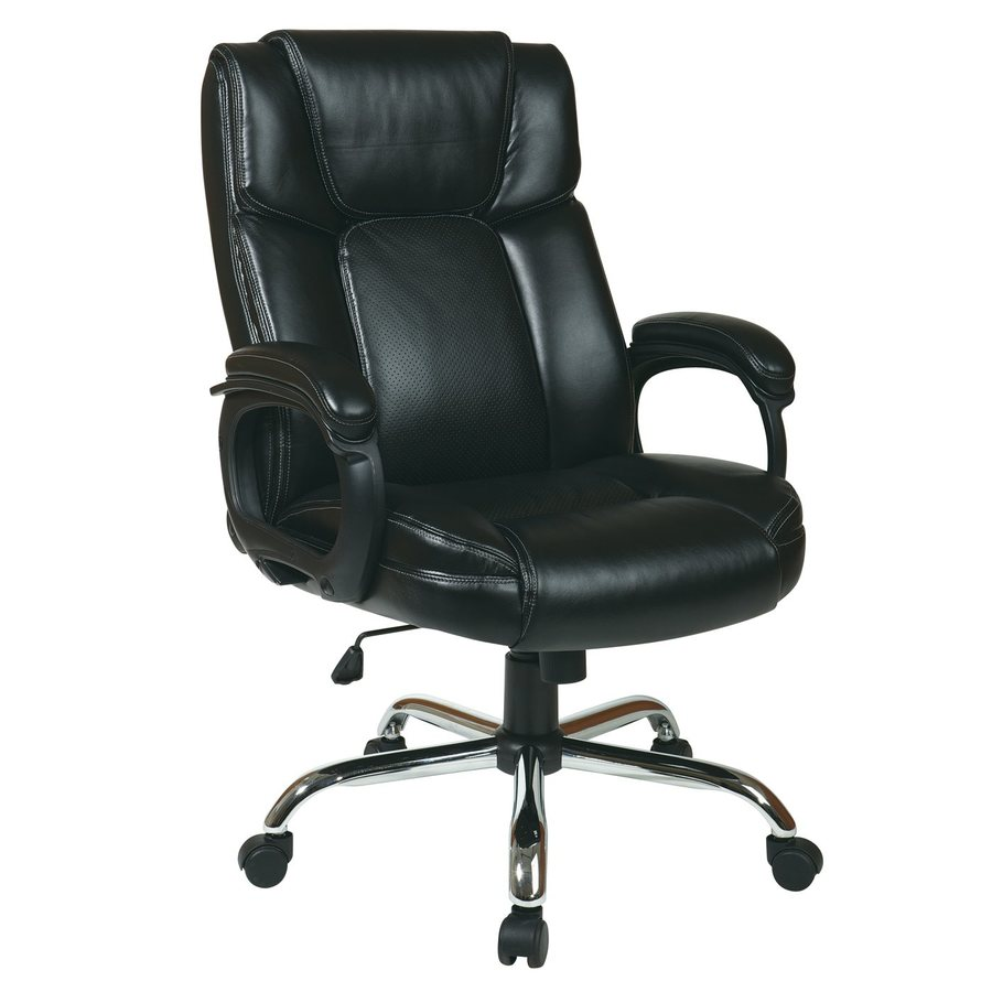 Office Star WorkSmart Big and Tall Black Transitional Manager Chair