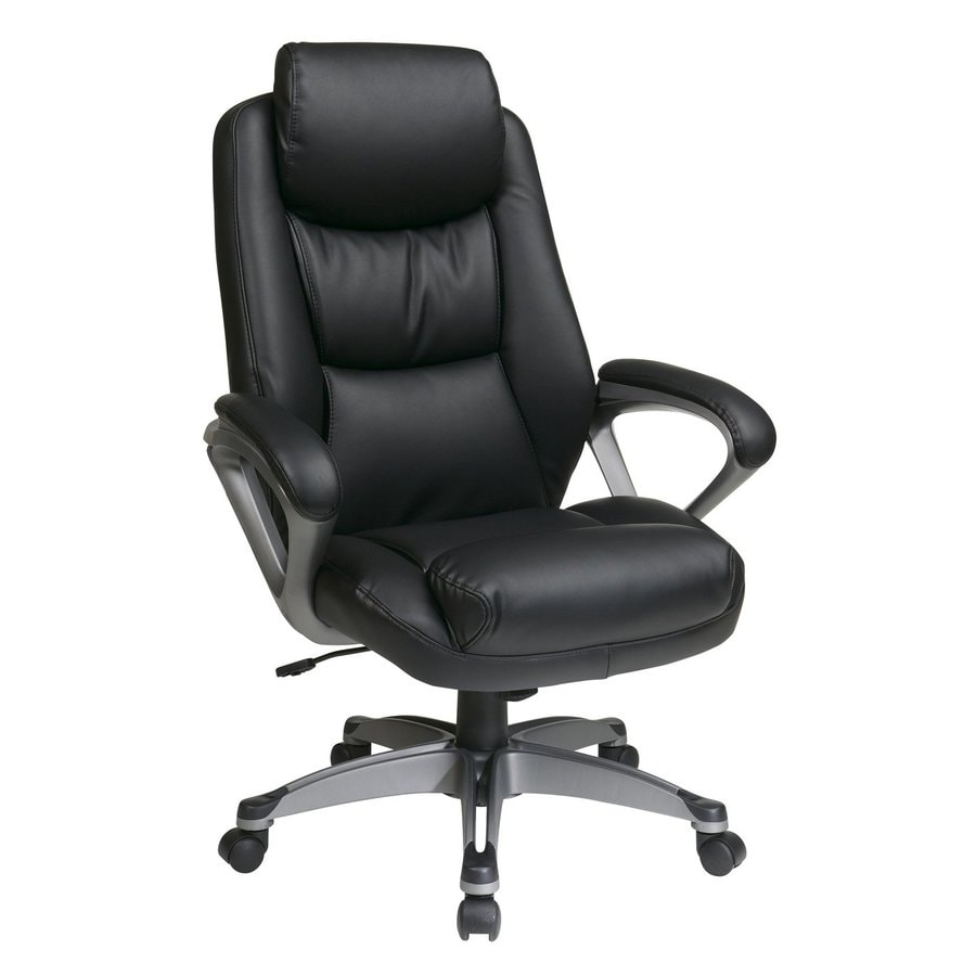 Shop Office Star Worksmart Ech Black Titanium Transitional Executive Chair At
