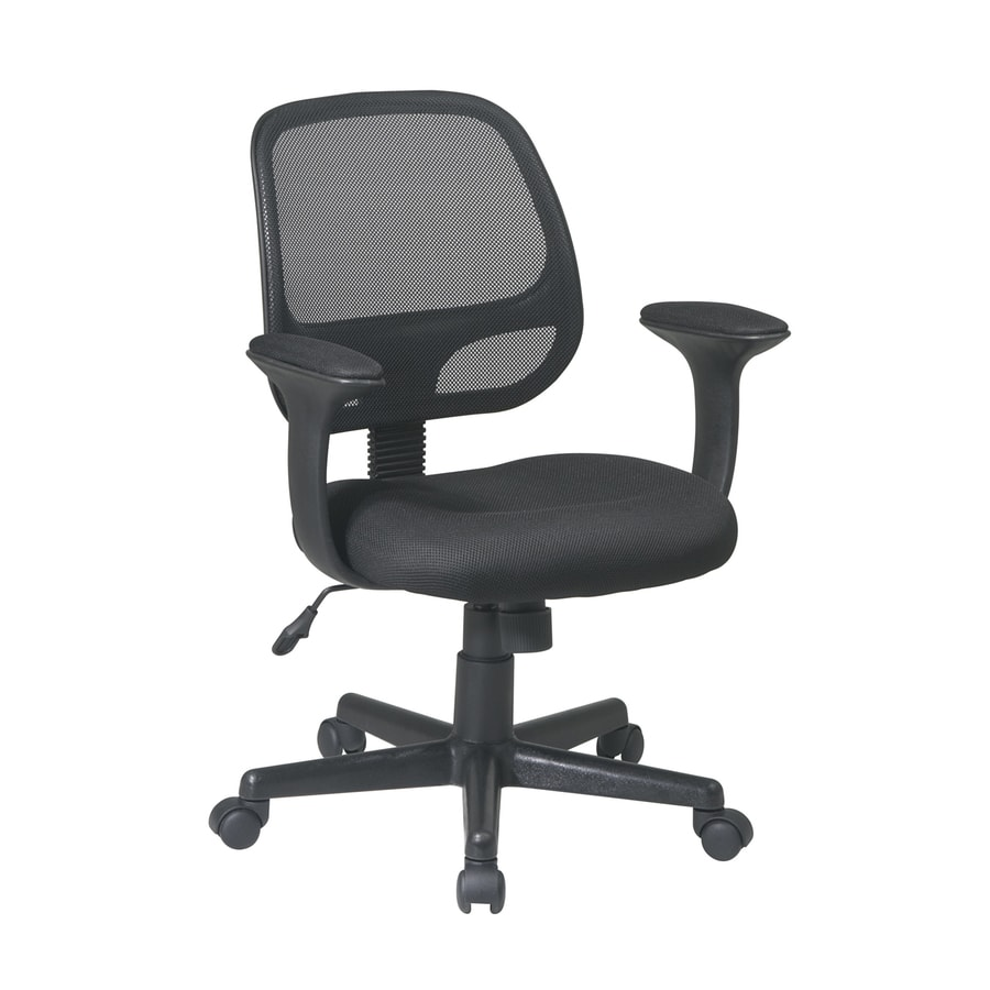 Office Star WorkSmart EM Black Contemporary Task Chair