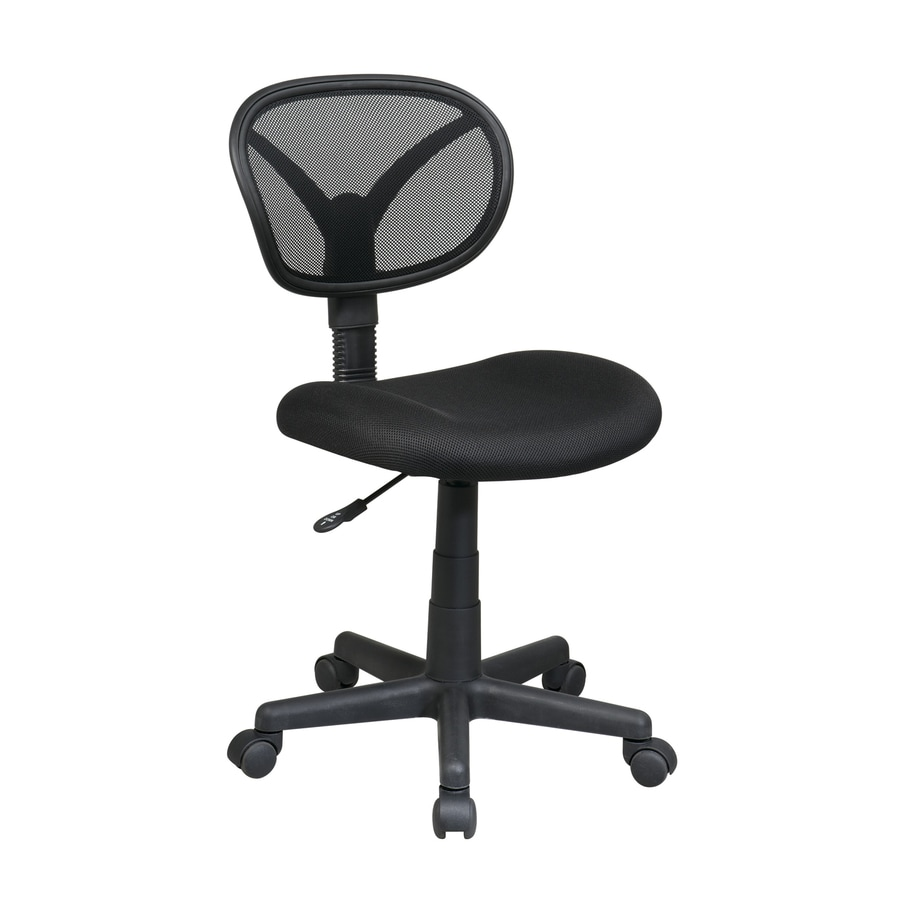 Office Star Worksmart Black Mesh Task Office Chair