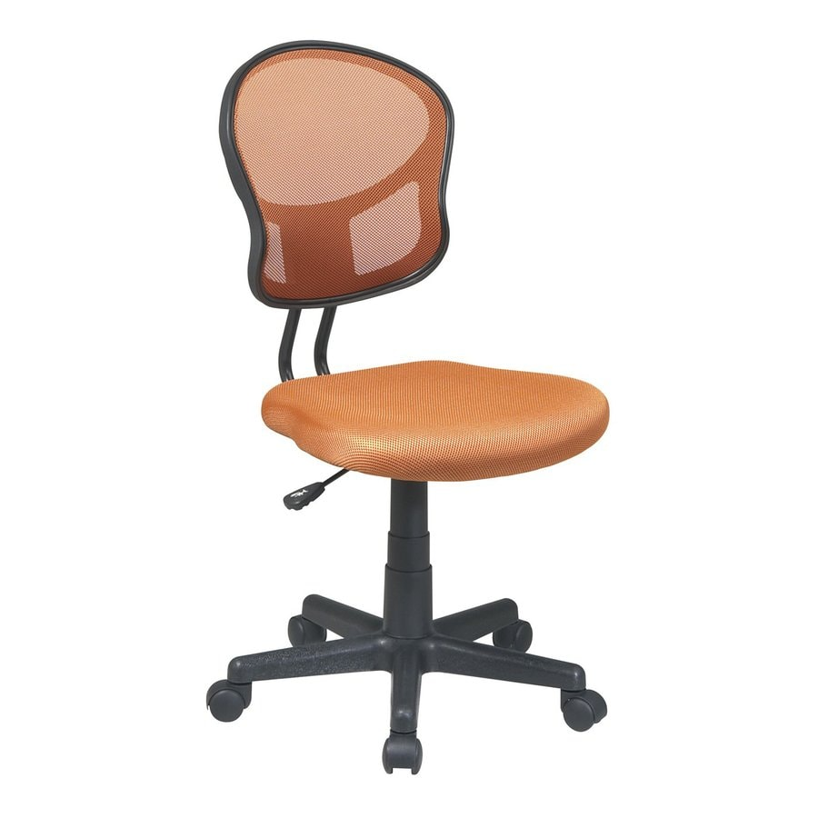 Office Star OSP Designs Orange Mesh Task Office Chair