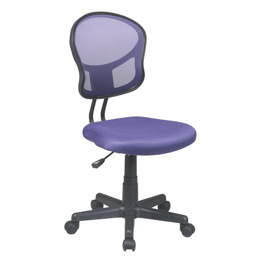 Office Star OSP Designs Purple Contemporary Task Chair