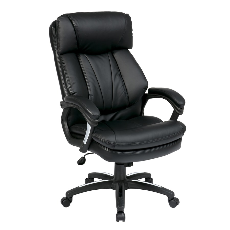 Office Star Worksmart Fl Black Transitional Manager Chair