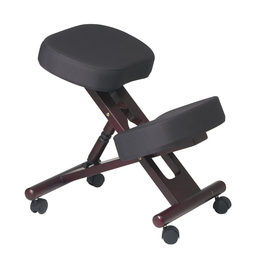 Office Star WorkSmart Black/Mahogany Contemporary Task Chair