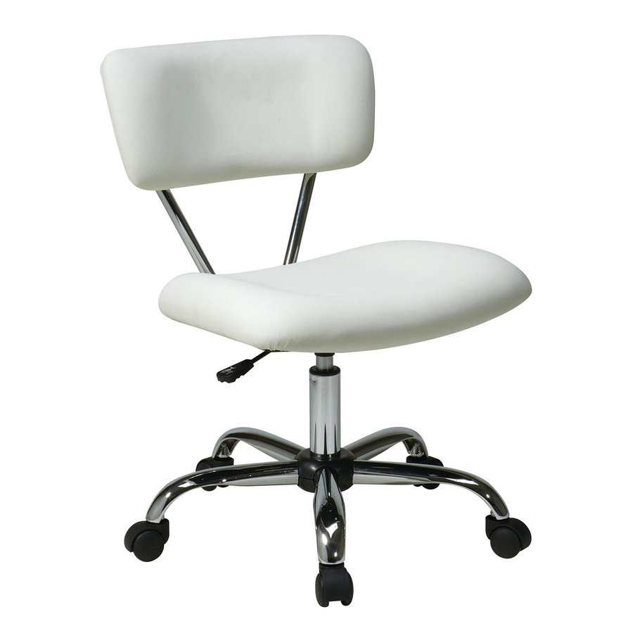 Office Star One Avenue Six White/Chrome Vinyl Task Office Chair